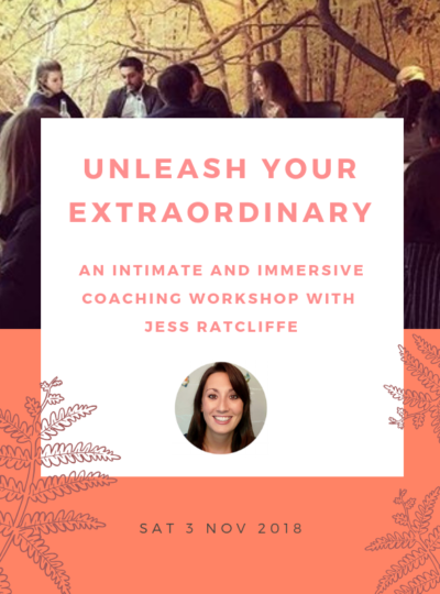You're invited to… Unleash Your Extraordinary, with Jess Ratcliffe